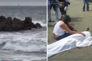 ¡MUY MAL! Encontraron el cuerpo sin vida de un venezolano en una playa de Cartagena, Colombia (+Video)