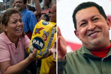 """¡PERO QUÉ SORPRESA! A falta de comida y soluciones Ministerio de Alimentación se dedica a adorar al """"gigante"""" Chávez en Twitter"""