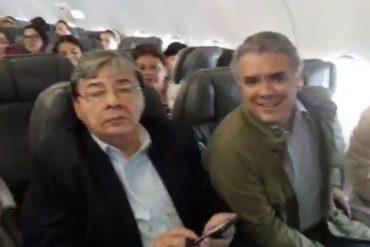 ¡APRENDE, NICO! Iván Duque da una lección de humildad al viajar en Avianca en clase turista (+Video)
