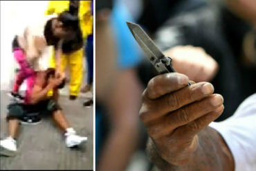 ¡QUÉ FUERTE! Mujer desnudó e intentó castrar a un venezolano que intentó robarla en Cúcuta (+Video)