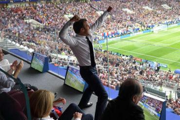 ¡ALEGRÍA CONTAGIOSA! La euforia de Macron por su selección y el gesto con el equipo de Croacia le dieron la vuelta al mundo (+Foto y Video)