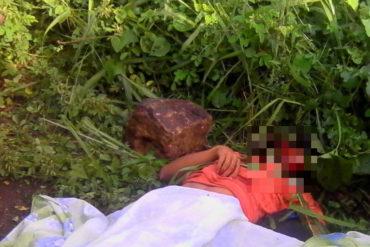 ¡ATROZ! Encontraron su cadáver decapitado en un matorral de San Félix (la piedra que usaron la dejaron junto al cuerpo)