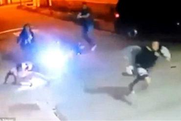 ¡IMPACTANTE! Intentó robarle la moto a un policía y terminó con un disparo en el suelo (+Video impactante)