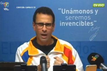 ¡SIN RODEOS! Capriles sobre un revocatorio contra los diputados de la AN: Si lo plantean hay que defenderlos