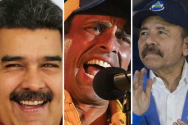 """¡Y NO SE EQUIVOCA!  Capriles condena la """"matazón"""" en Nicaragua: Maduro y Ortega son caimanes del mismo pozo"""