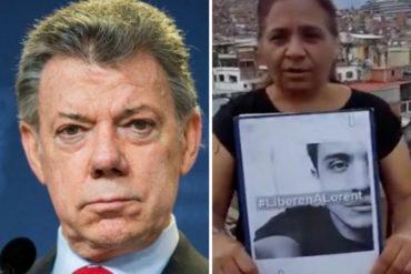 """¡SE LAS CANTÓ! Madre de Lorent Saleh responsabilizó a Juan Manuel Santos por """"crímenes"""" contra su hijo (+Video)"""