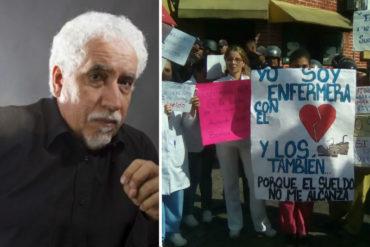 """¡SOLIDARIDAD! El importante llamado de Leonardo Padrón al país sobre enfermeras en protesta: """"No la dejemos solas"""""""