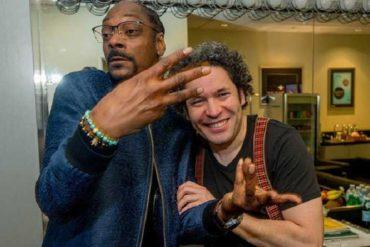 ¡GENIAL! Snoop Dogg quedó maravillado con el trabajo de Gustavo Dudamel en Los Ángeles y lo alabó en camerinos (+Video cómico)