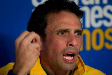 """¡SIN FILTRO! Capriles las canta: """"Mientras el gobierno no pisa el peine de la descalificación, en la oposición se dedican a los ataques internos"""""""