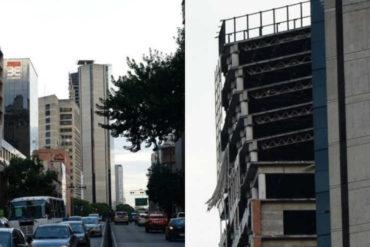 ¡SE LO MOSTRAMOS! Detalles de la preocupante inclinación que sufrió la Torre de David en los últimos 5 pisos tras el sismo