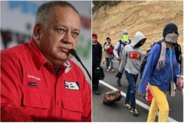 """¡SI TÚ LO DICES! Según Diosdado, los venezolanos que emigran a pie son parte de un """"aparato mediático tipo Hollywood"""""""