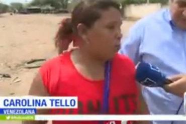¡QUÉ TRISTE! Entre lágrimas una mujer huye por una trocha a Colombia en busca de ayuda para su hijo con cáncer (+Video)