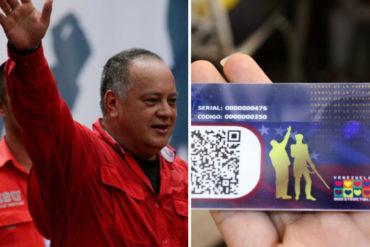 ¡SE REGOCIJA! Diosdado se burla de los opositores que se han sacado el carnet de la patria: Si ve a alguien en la cola con gorra y lentes, ese es escuálido
