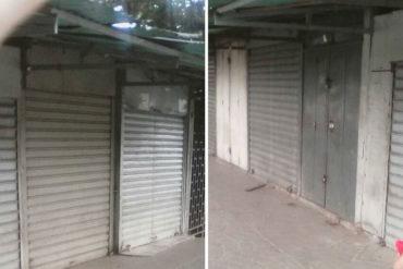 ¡SE RESTEARON! En el mercado de Carapita acataron el paro de 24 horas convocado por la oposición (+Fotos)