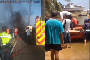 ¡SE LO MOSTRAMOS! Así cruzan los ciudadanos el Lago de Maracaibo luego de la explosión (+Video)