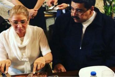 ¡SINVERGÜENZA! Mientras venezolanos pasan hambre, Maduro y Cilia comen en restaurante del chef Salt Bae en Turquía (+Videos)