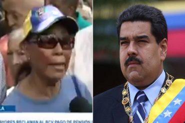 """¡DE FRENTE! El mensaje de esta abuela a Maduro: """"Se burló, humilló y maltrató a los pensionados, ya no se aguanta esta situación"""" (+Video)"""