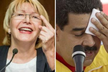 ¡TOMA, PUES! Luisa Ortega le tira al gobierno: A los venezolanos nos une el propósito de sacar a Maduro y a su banda de delincuentes del poder