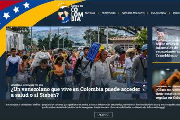 ¡SE LOS MOSTRAMOS! Panas en Colombia, la hermosa iniciativa de El Tiempo y Acnur para guiar a los venezolanos que emigran al país vecino