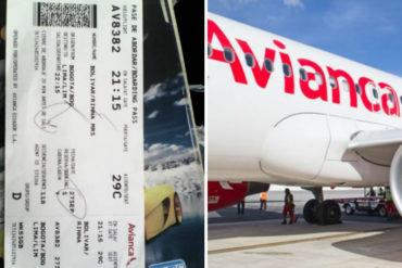 ¡QUÉ ABUSO! Denuncian presunto caso de xenofobia  en contra de venezolanos en Avianca (a 1 familia le habrían impedido abordar avión)