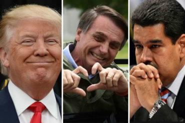 ¡AJÁ, NICO! Bolsonaro podría recibir oferta de Trump para ayudar a militarizar la frontera de Brasil con Venezuela