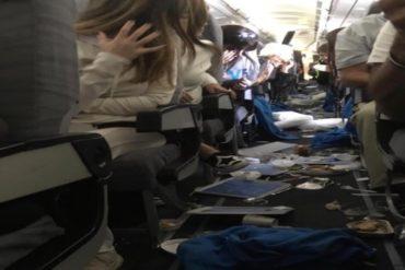 ¡SUSTO! Fuerte turbulencia deja 15 heridos en vuelo de Aerolíneas Argentinas (+Video)