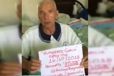 ¡NECESITA AYUDA! Actor venezolano Humberto García pide insumos y atención médica desde un ancianato en Barquisimeto (+Video)