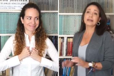 ¡IMPERDIBLE! La parodia entre María Corina y Alejandra Otero que terminó con un mensaje por el mes rosa: Tócate (+Video+risas)
