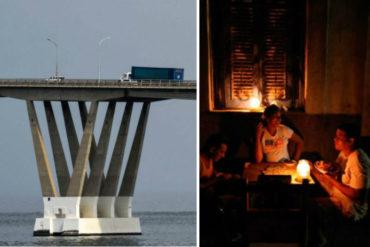 ¡ATENTOS! Cierran paso al Puente sobre el Lago por explosión en la sub estación Punta Iguana este #23Oct (causó apagón en Maracaibo)