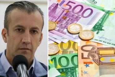 """¡DEBE SABERLO! Transacciones del mercado cambiario """"se fijarán en euros"""", dijo Tareck El Aissami"""