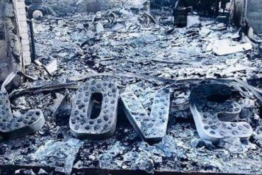 ¡FUERTES! Las impactantes imágenes de la casa de la artista Miley Cyrus que fue arrasada por el fuego en California