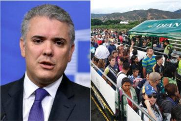 ¡IMPORTANTE! Iván Duque reveló que no cerrará la frontera: Colombia tendrá los brazos abiertos, es nuestro deber hacerlo (+Video)