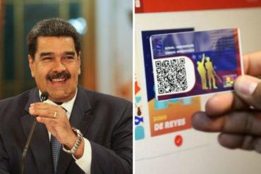 ¡PAÑITOS DE AGUA TIBIA! Maduro anuncia bono de 2.000 soberanos para beneficiarios del carnet de la patria