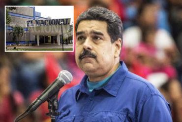 """¡AGÁRRATE, NICO! El contundente mensaje que El Nacional le mandó a Maduro: """"Hola, Nicolás, nos vemos en la web"""" (+Auch)"""