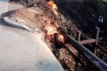 ¡EN RIESGO! Alertan que fuga de gas pone en peligro de explosión a vecinos en Maracaibo (+Video)