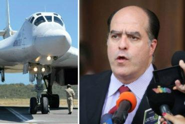 ¡GRAVÍSIMO! Julio Borges sobre bombarderos rusos: La dictadura entrega riqueza del país a cambio de apoyo militar