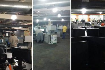 ¡EN REVOLUCIÓN! Las tristes imágenes de la redacción de El Nacional en su último día (+Foto) (+Video)