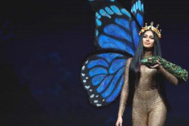 ¡IMPACTANTE! Así deslumbró Sthefany Gutiérrez con su traje típico en el Miss Universo 2018 (+Fotos)