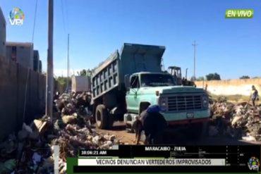 """¡TERRIBLE! """"Los niños se están infectando"""": zulianos denuncian vertederos de basura improvisados en urbanizaciones (+Video)"""