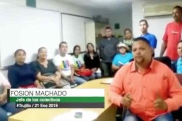 ¡ALERTA! Alcalde oficialista hizo un video para amenazar a opositores trujillanos que salgan a marchar este #23Ene (+Video)