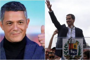 ¡EN EL OJO DE LA FARÁNDULA! Alejandro Sanz afirma que el medio artístico está pendiente de la actuación de Guaidó: Me han llamado Bosé, Luis Fonsi y J Balvin