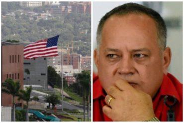 ¿TIENEN MIEDO? Diosdado amenaza a la Embajada de EE UU si no desaloja el personal: A lo mejor se les va la luz o el gas