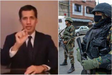 ¡ATENCIÓN! Guaidó a militares: Han sido víctimas de un sistema que los obliga a mirar hacia otro lado mientras algunos roban (+video)
