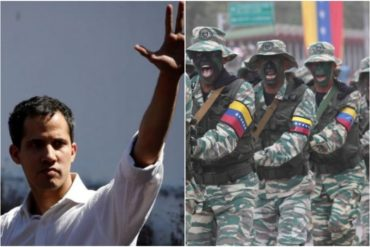 """¡CANDELA! Guaidó asegura que la necesidad de cambio penetró en la FANB: """"Ya hemos recibido algunos mensajes"""" (+Video)"""