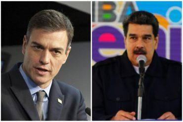 """¿MÁS O MENOS? Pedro Sánchez dice que Maduro """"no tiene ninguna intención de dialogar"""", pero rechaza una intervención en Venezuela"""