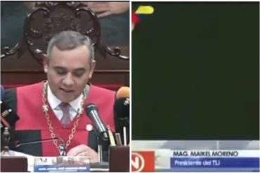 ¿QUÉ ESCONDÍAN? VTV cortó su transmisión antes de que Maikel Moreno mencionara sentencia contra Guaidó (recibió un manojo de papeles) (+Video)