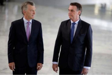 ¡ATENCIÓN! Macri y Bolsonaro condenan el régimen de Maduro y defienden la restauración de la democracia en Venezuela (+Videos)