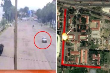 ¡MÍRELAS! Las fotografías que revelaron el verdadero recorrido del carro bomba en el atentado de Bogotá (+Video)