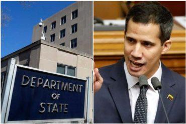 ¡ATENCIÓN! Departamento de Estado de EEUU certifica autoridad de Guaidó para recibir y controlar las propiedades y cuentas de Maduro