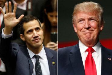 ¡URGENTE! Donald Trump reconoce a Juan Guaidó como presidente legítimo de Venezuela